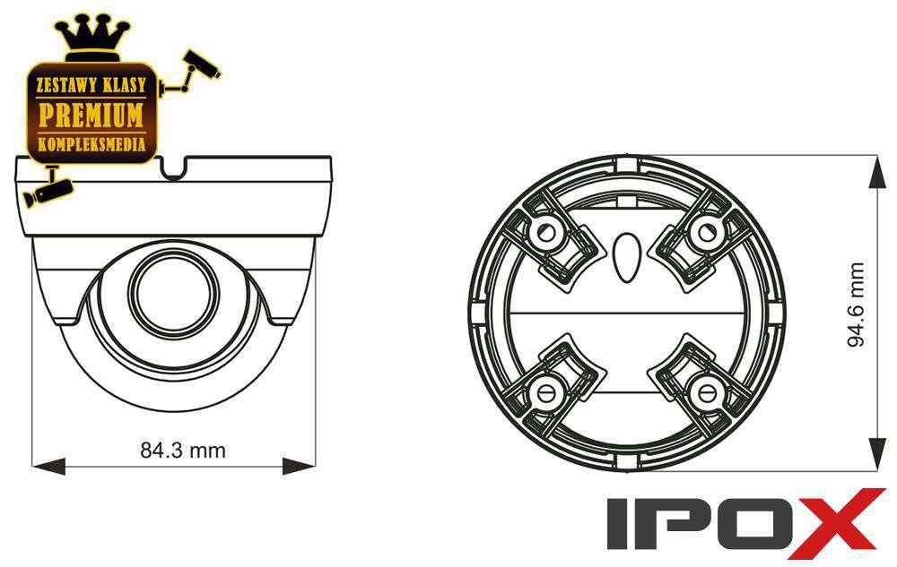 Wymiary kamery PX-DVH2028-E/G IPOX