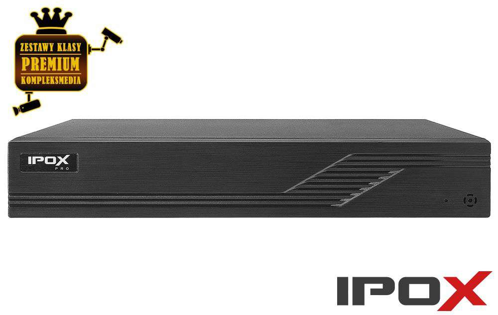 Rejestrator do monitoringu PX-HDR0821H-E do 9 kamer IPOX