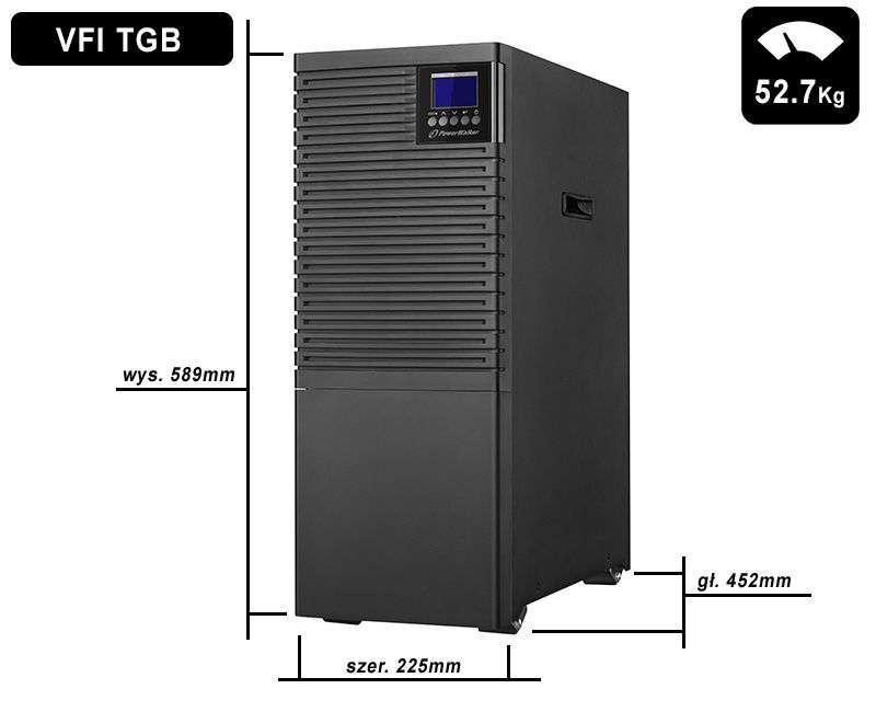 VFI 6000 TGB PF1 PowerWalker wymiary i waga
