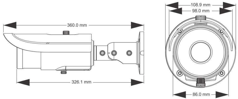 wymiary kamer ipox px-tzip4025as-p