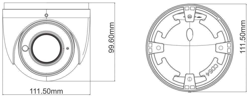 wymiary kamer ipox PX-DZI2012IR3/W