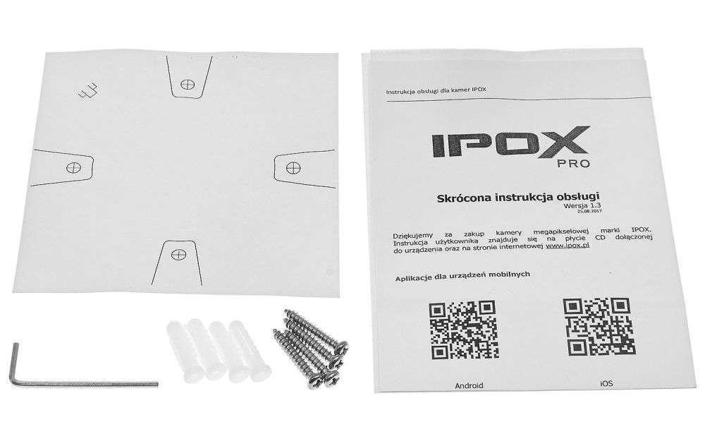 zawartość opakowania ipox pro PX-DZI2012IR3/W