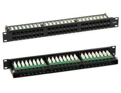 """48 portowy nieekranowany patch panel UTP Cat.6 19"""" R9120313 Signal"""
