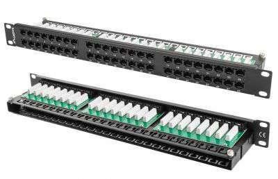48 portowy patch panel UTP Cat.5e