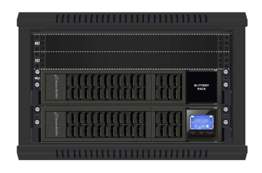 2w1 Zestaw zasilania awaryjnego UPS VFI 1000 CRS LCD + BP A24R-4x9Ah (10134013)
