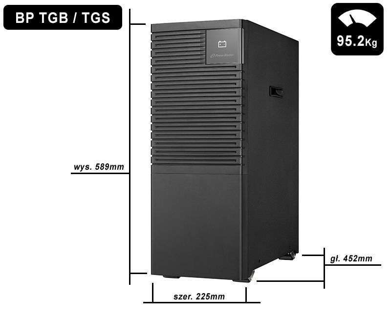 Battery Pack S192T-32x9Ah PowerWalker BP 10134038 wymiary i waga