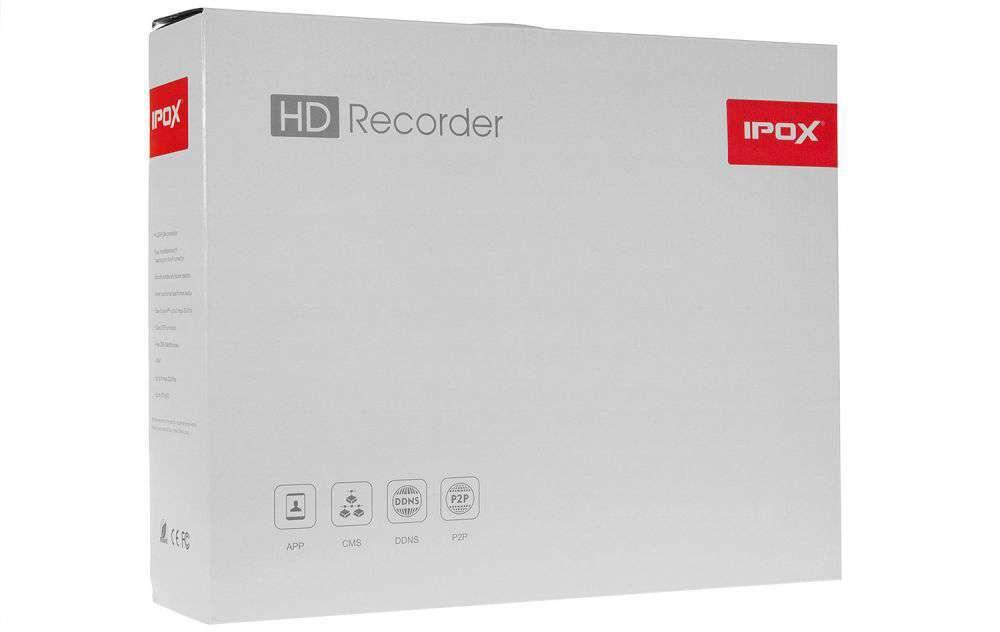 zawartość opakowania rejestratora ipox px-nvr0451h-e-p4