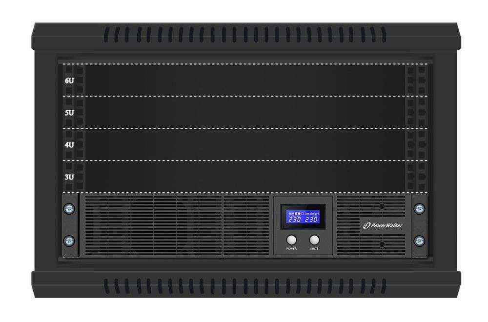 VI 3000 RLE PowerWalker montaż RACK