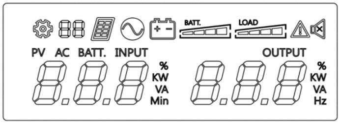 PowerWalker VI 1500 R1U wyświetlacz LCD