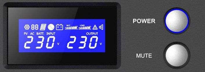 PowerWalker VI 1000 R1U wyświetlacz LCD