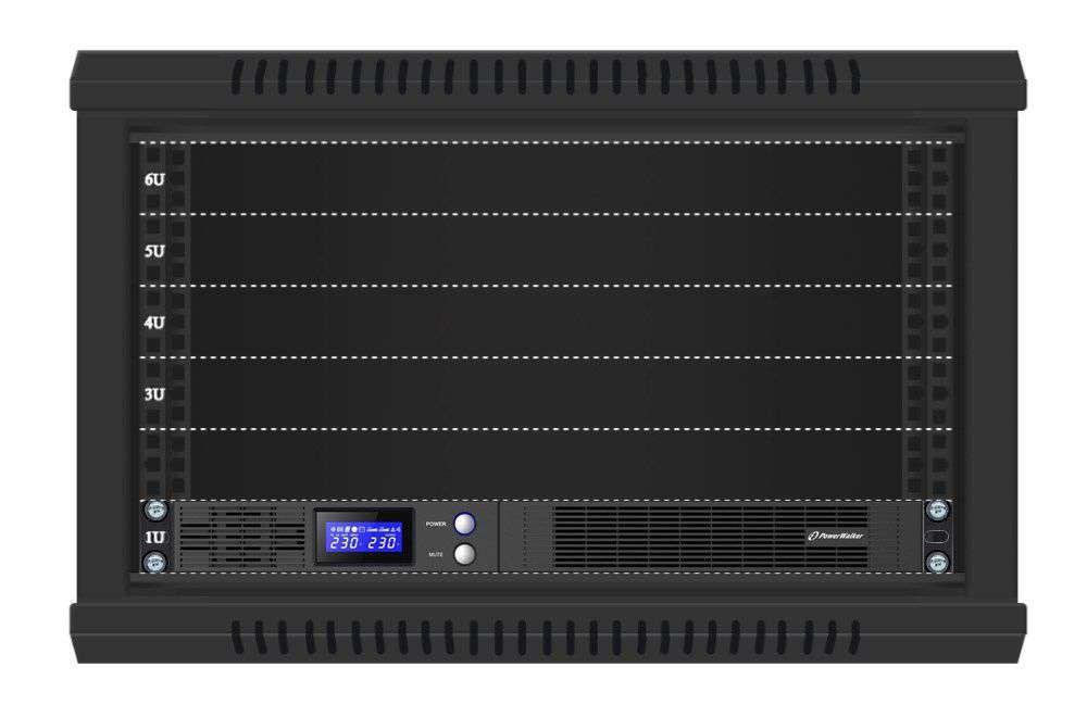 VI 1000 R1U PowerWalker montaż RACK