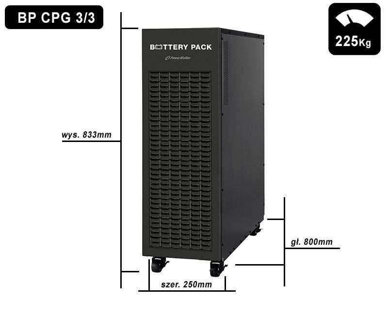 Battery Pack C384T-64x9Ah+4A PowerWalker BP 10134035 wymiary i waga