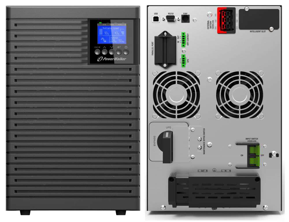 Zasilacz UPS online 6kVA/6kW VFI 6000 TGS PF1 PowerWalker