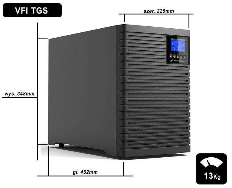 VFI 6000 TGS PF1 PowerWalker wymiary i waga