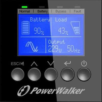 PowerWalker VFI 6000 TGS PF1 wyświetlacz LCD