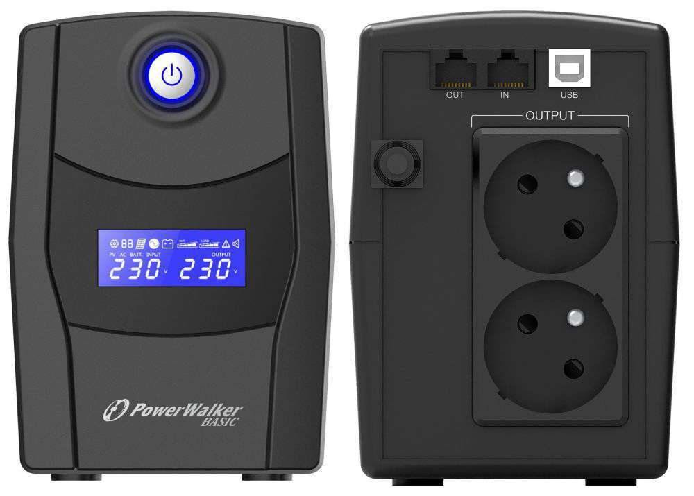 Zasilacz UPS awaryjny 1000VA/600W VI 1000 STL FR PowerWalker