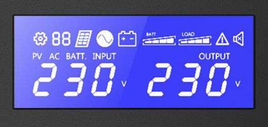 PowerWalker VI 1500 STL FR wyświetlacz