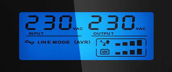 PowerWalker VI 2200 GX wyświetlacz