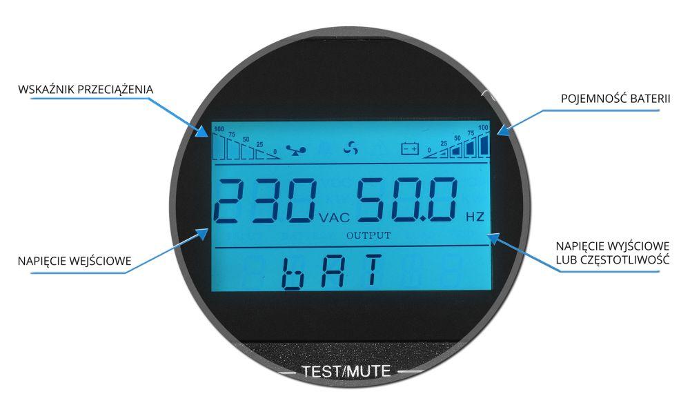 UPS1000-LCD EAST schemat złączy