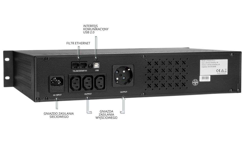 UPS650-R-LI EAST wyświetlacz lcd schemat