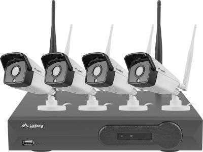 zestaw 4 kamer kanałowy do monitoringu bezprzewodowego lanberg