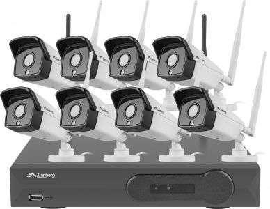 zestaw 8 kamer kanałowy do monitoringu bezprzewodowego lanberg