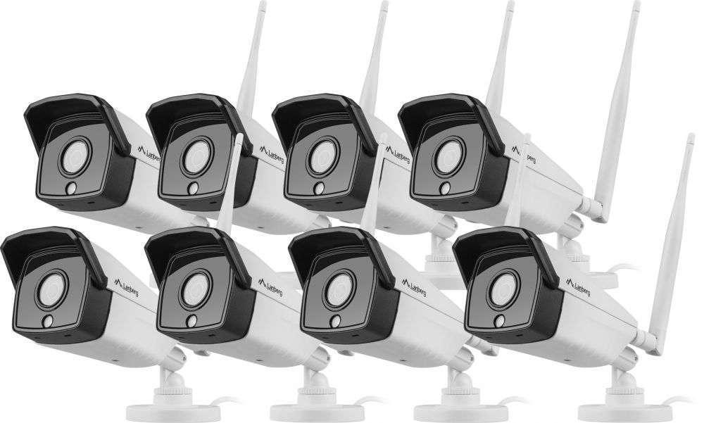 zestaw 8 kamerowy kanały do monitoringu wifi lanberg-ics-0808-0020