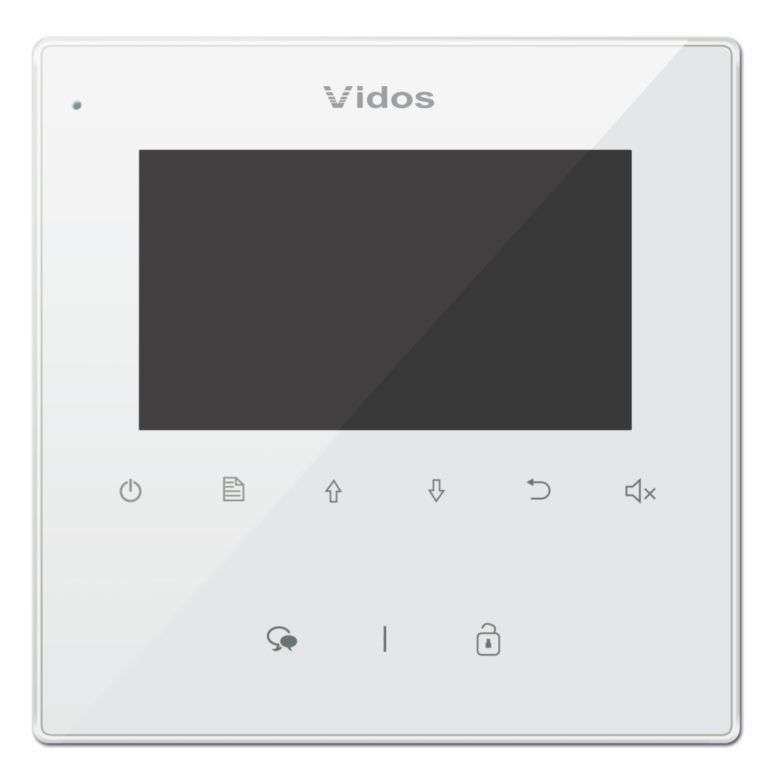 Monitor 4.3'' do wideodomofonu M1022W Vidos Duo biały