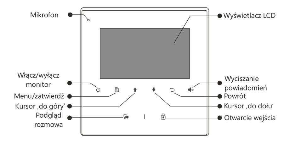 vidos duo m1022w - charakterystyka przodu monitora