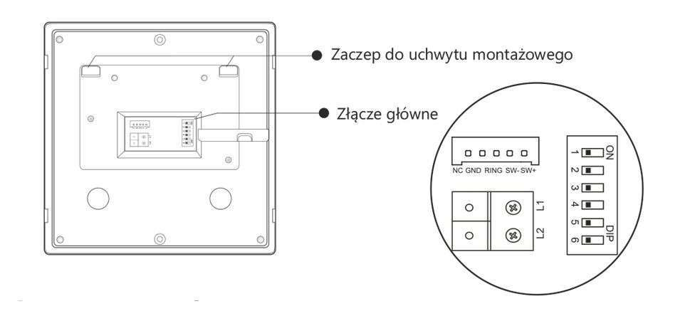vidos duo m1022w - charakterystyka tyłu monitora