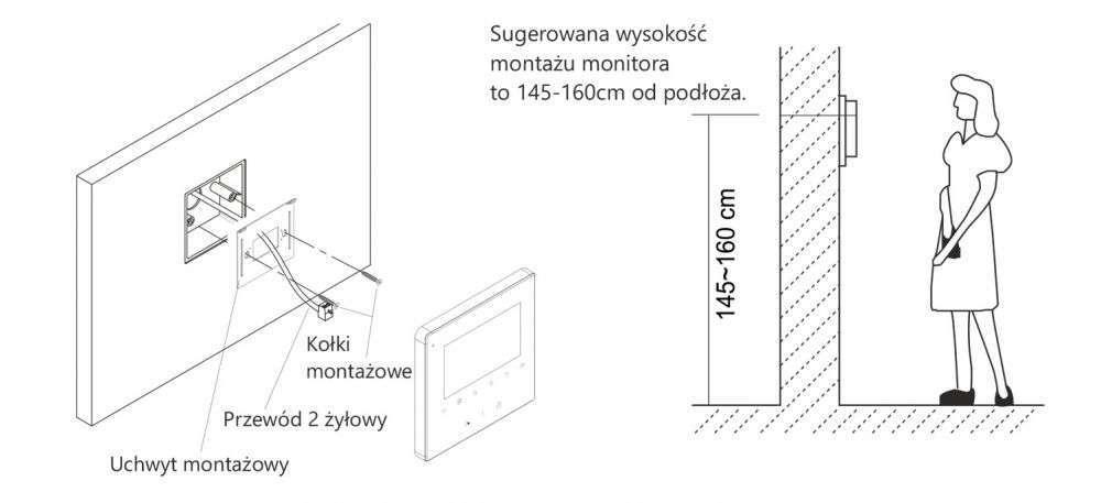 vidos duo m1022b - instalacja monitora