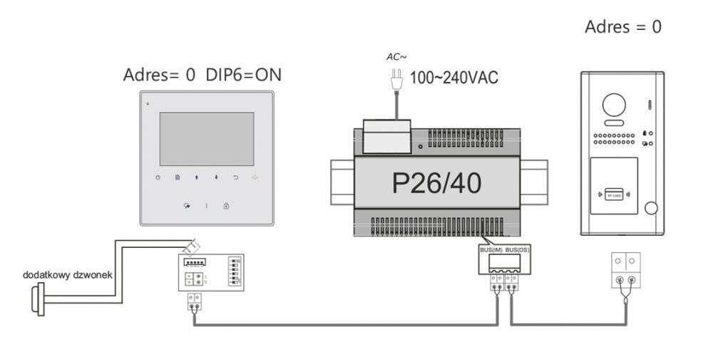 vidos duo m1022b - schemat ideowy podłączenia monitora