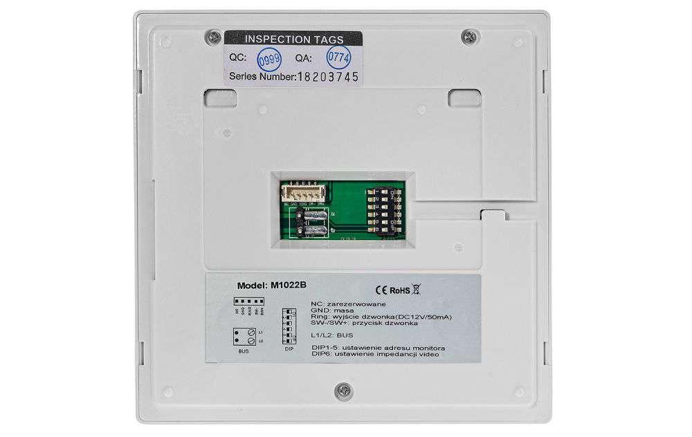 Monitor 4.3'' do wideodomofonu M1022B Vidos Duo czarny