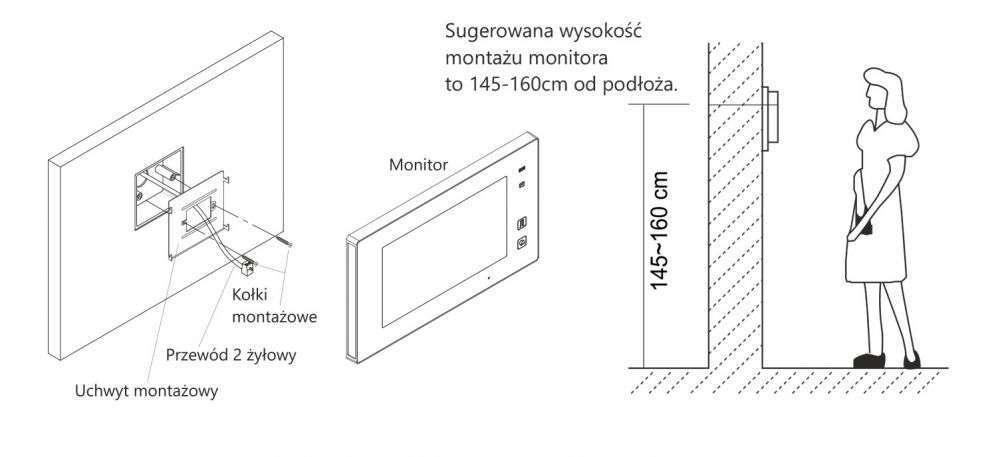 vidos duo m1021w - instalacja monitora