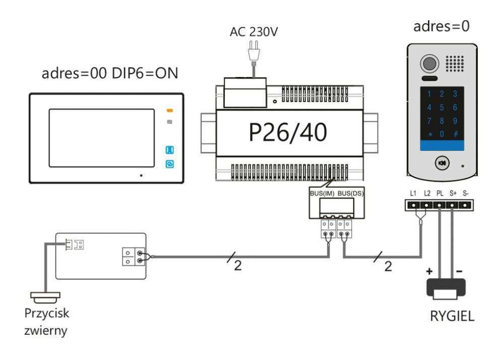 vidos duo s1301-d- schemat ideowy podłączenia stacji bramowej