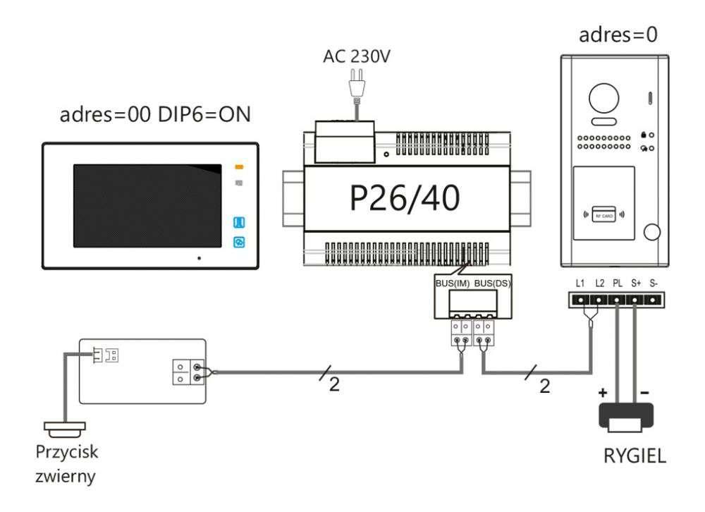 vidos duo s1101-a - schemat ideowy podłączenia stacji bramowej