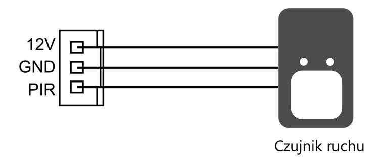vidos duo s1202a - złącze czujnika detekcji ruchu pir