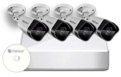 zestaw 4 kamer kanałowy do monitoringu ip zmip-tre4kb10 trendnet