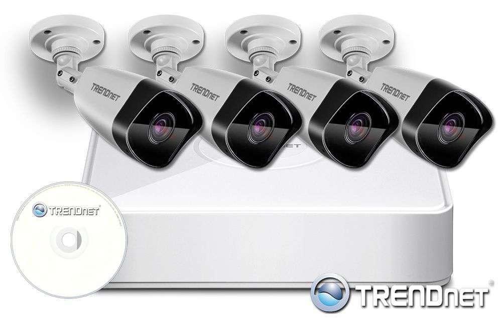 zestaw 4 kamer kanałowy monitoring ip zmip-tre4kb20 trendnet