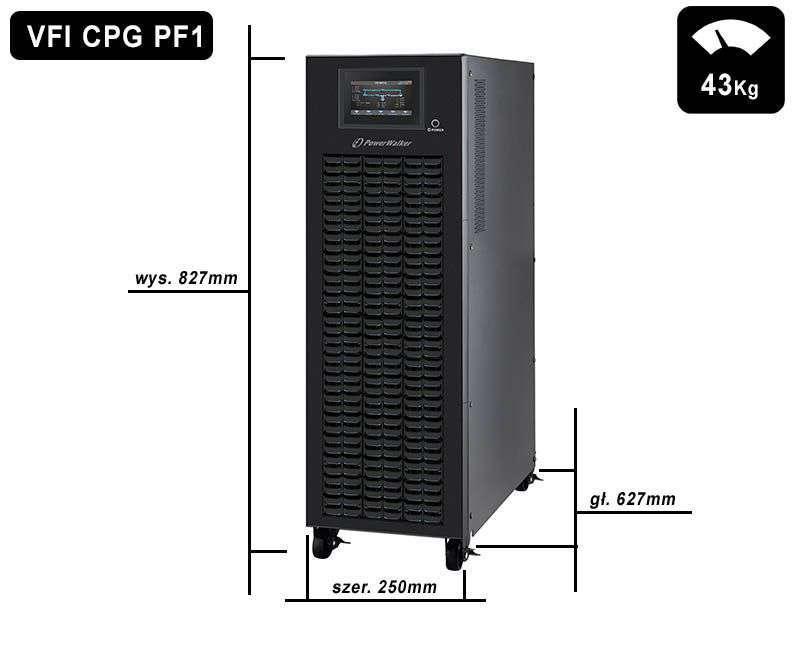 VFI 10000 CPG PF1 BX PowerWalker wymiary i waga