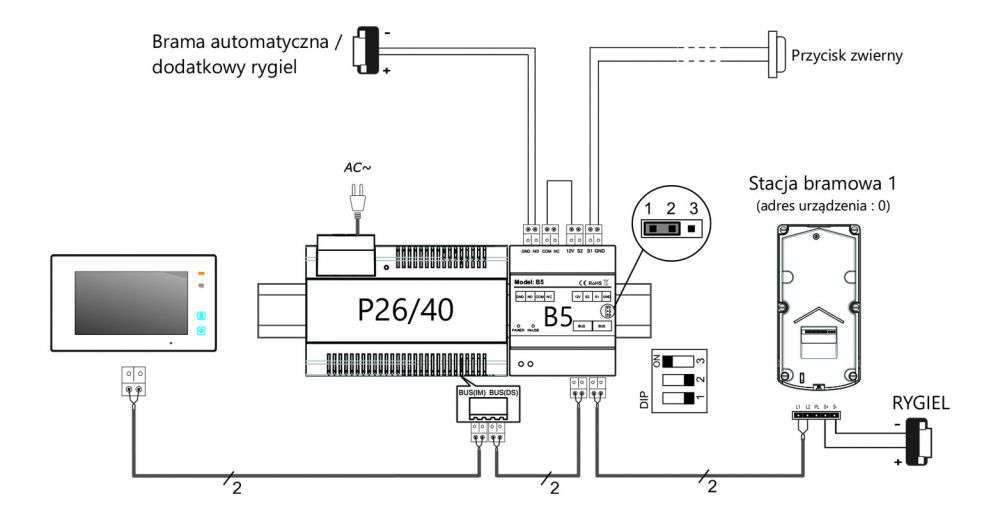 vidos duo b5 schemat podłączenia elektrozaczepu
