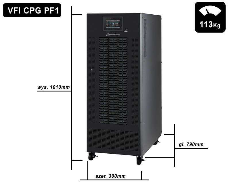 VFI 80000 CPG PF1 BX PowerWalker wymiary i waga