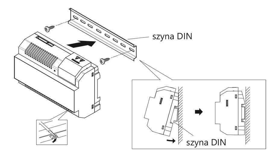 vidos duo P26/40 montaż zasilacza DIN