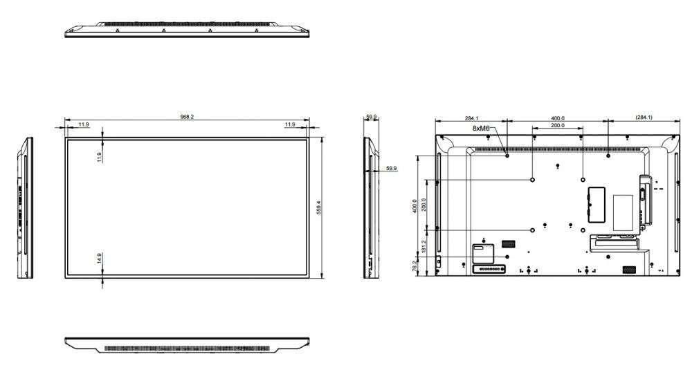 rysunek techniczny ag neovo pm-43