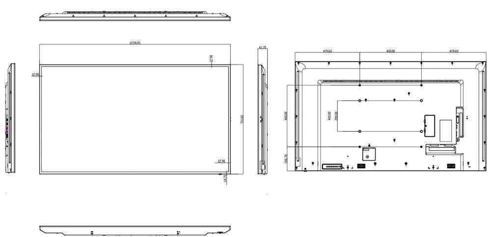 rysunek techniczny ag neovo qm-55