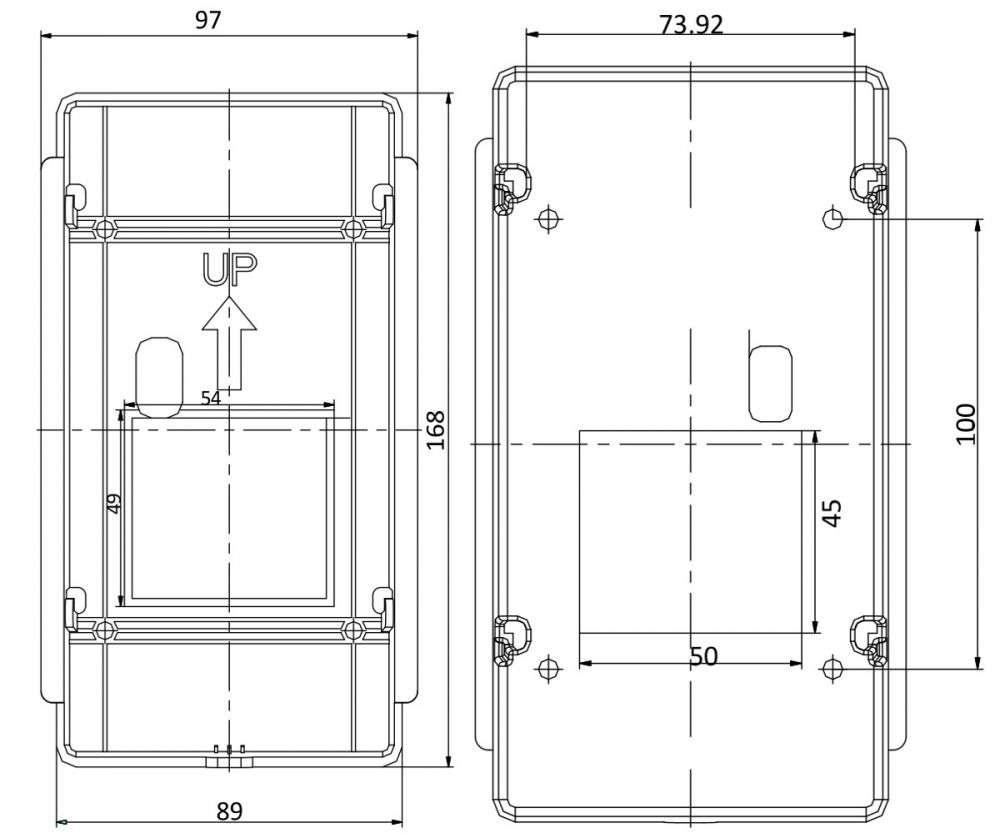 wymiary rysunek stacji bramowej hikvision ds-kv8102-im