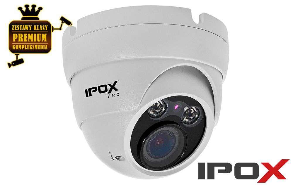 Kamera AHD HD-CVI HD-TVI ANALOG kopułowa IPOX PX-DVH2002-E/W (2MPX) biała