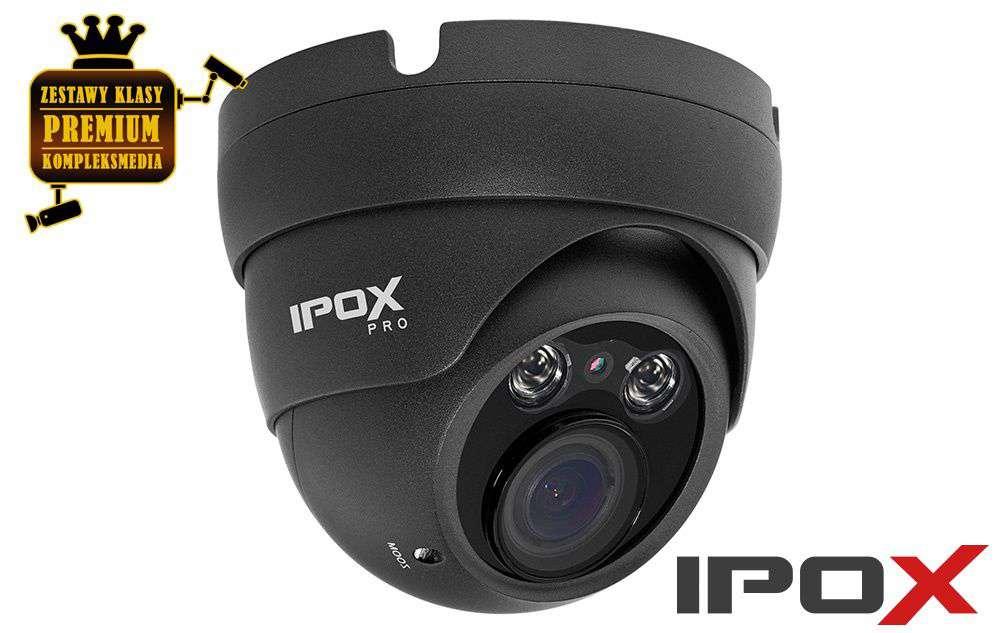 Kamera AHD HD-CVI HD-TVI ANALOG kopułowa IPOX PX-DVH2002-E/G (2MPX) grafit