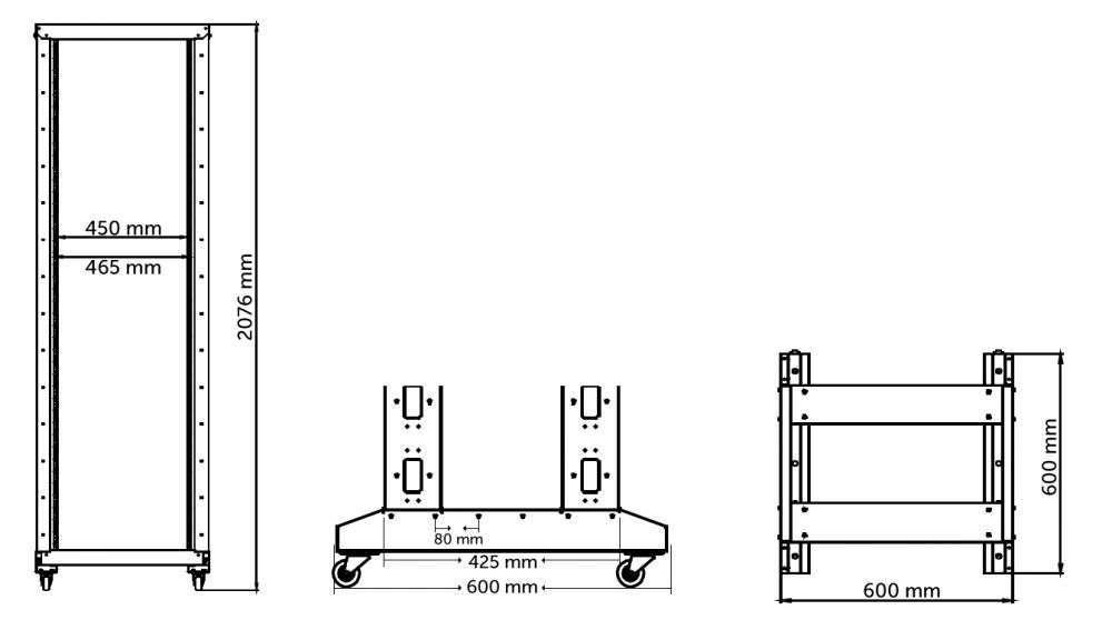wymiary stojaka open rack