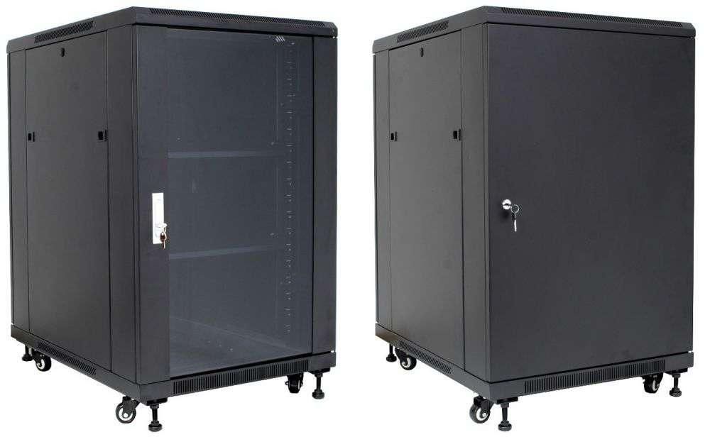 """Szafa Rack 19"""" 20U 600x1000 Base Link BL-SRS19206100SM-1C - stojąca"""
